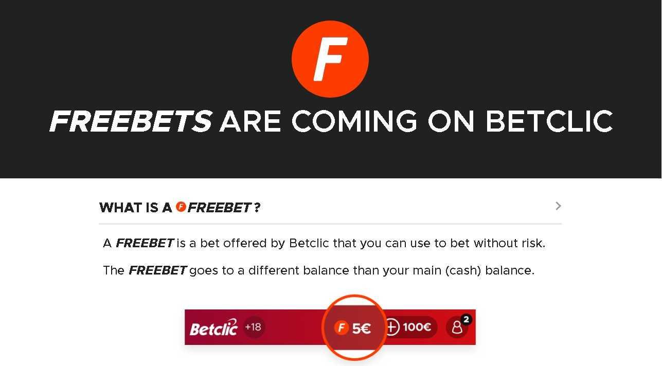 Betclic bonus freebet