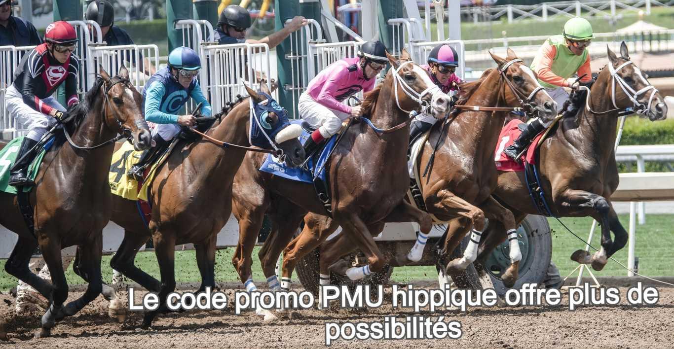 Le code promo PMU hippique offre plus de possibilités