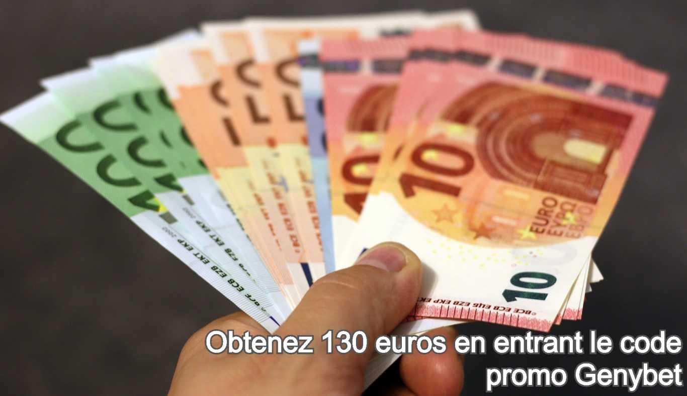 Obtenez 130 euros en entrant le code promo Genybet