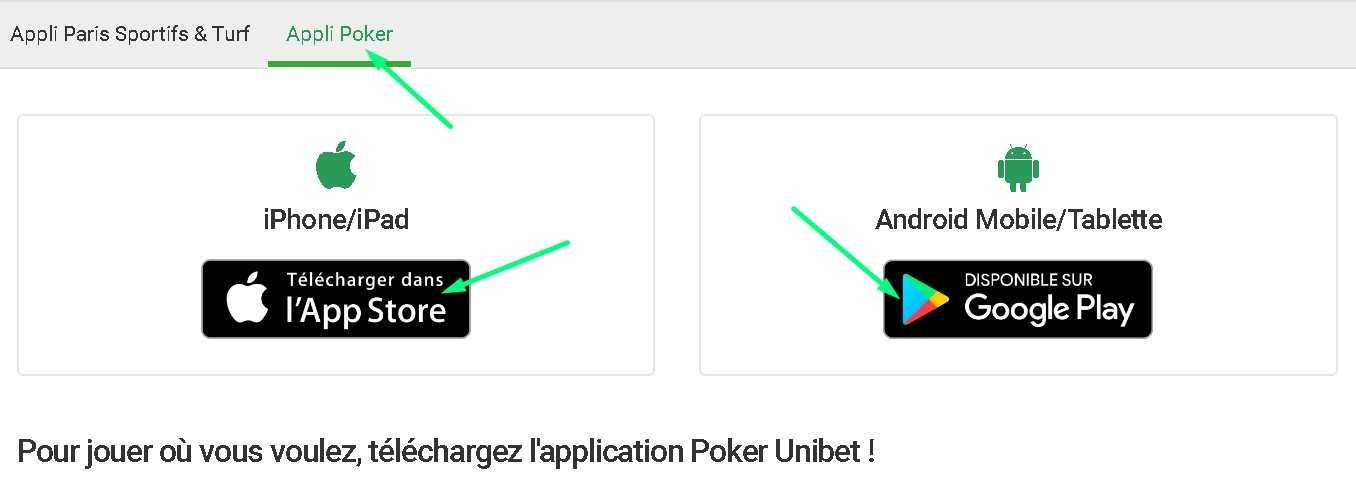 Unibet pour poker